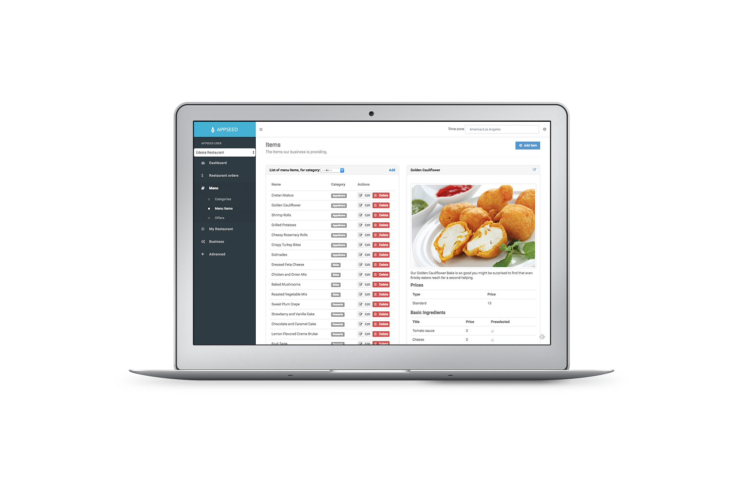 Appseed Restaurant - Full Application with self hosted backend Download