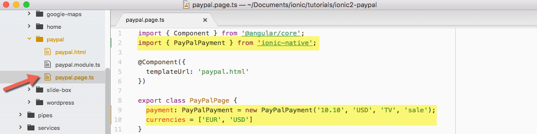 Adding Paypal payments to your Ionic 2 application | AppSeed