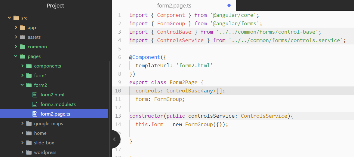 How to use Angular Dynamic Forms in Ionic Applications | AppSeed