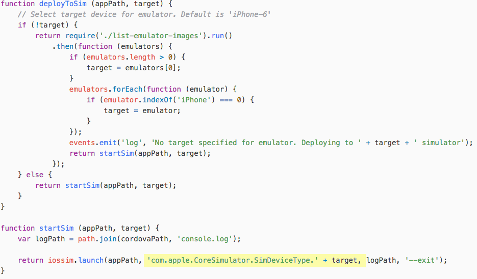 How to Run an Ionic/Cordova App on Specific Device/iOS
